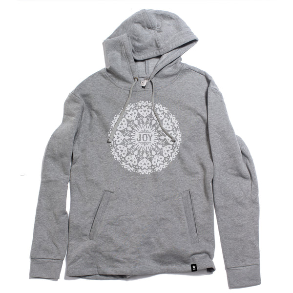 Joy Snowflake Fleece Hoodie - Stately Type