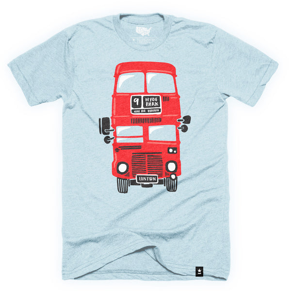 London Red Double Decker Bus T-shirt - Stately Type