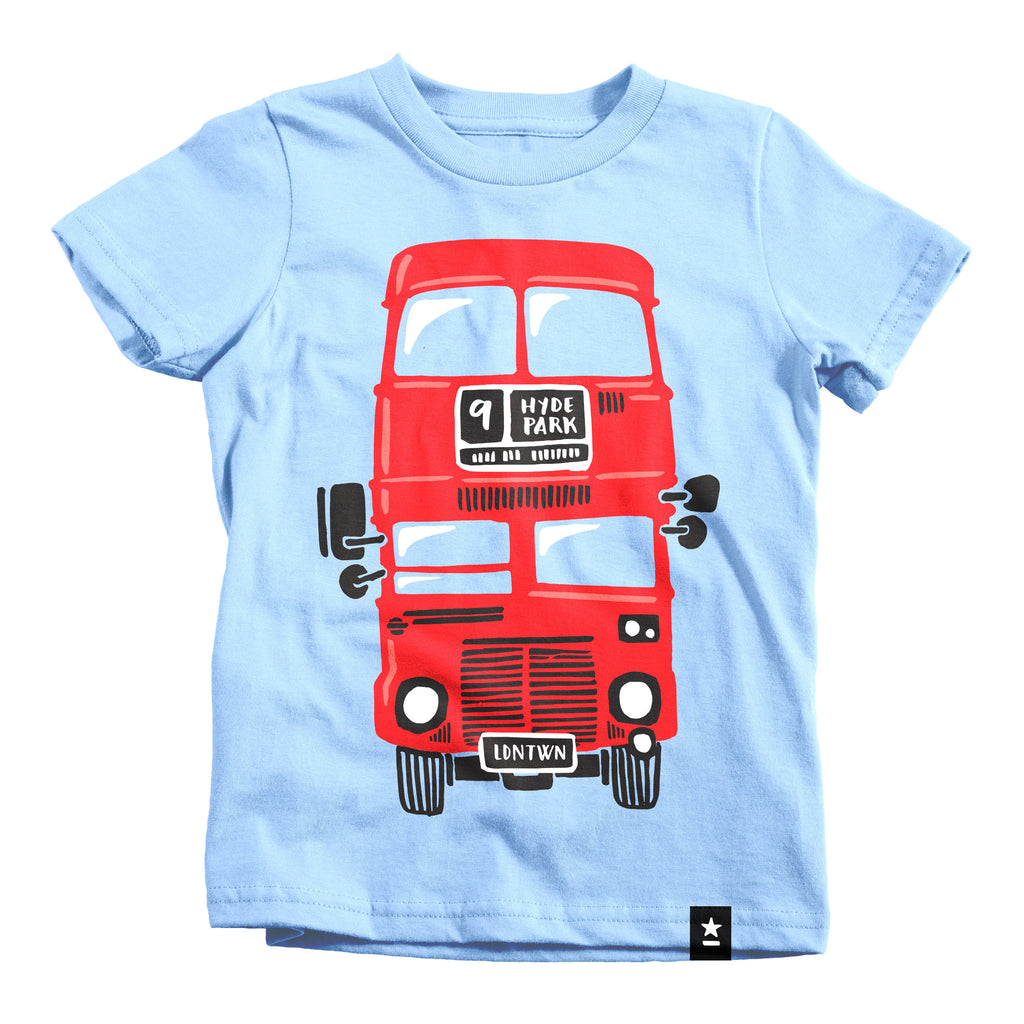 London Red Double Decker Bus T-shirt - Kids - Stately Type