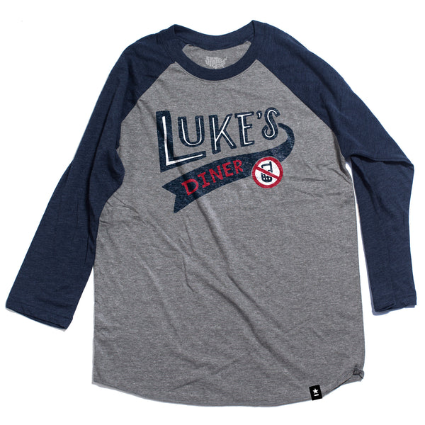Luke's Diner Raglan T-shirt - Stately Type