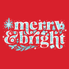 Merry & Bright Hooded T-shirt