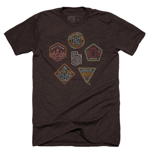 Mighty 5 Utah National Parks T-shirt