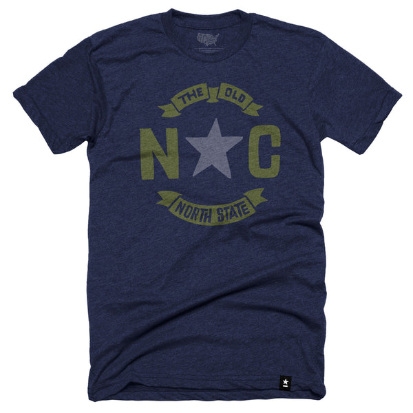 "North Carolina ""The Old North State"" T-shirt - Stately Type"