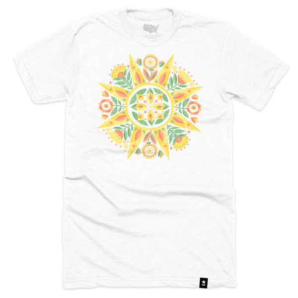 Norwegian Folk Art Sun T-shirt - Stately Type