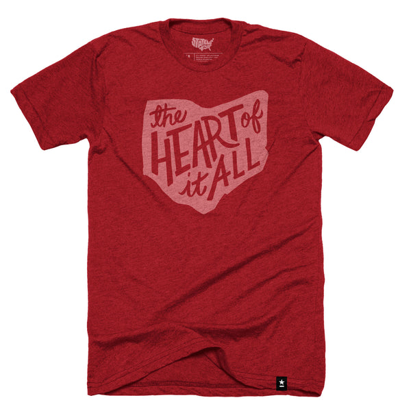 "Ohio ""The Heart of It All"" T-shirt - Stately Type"