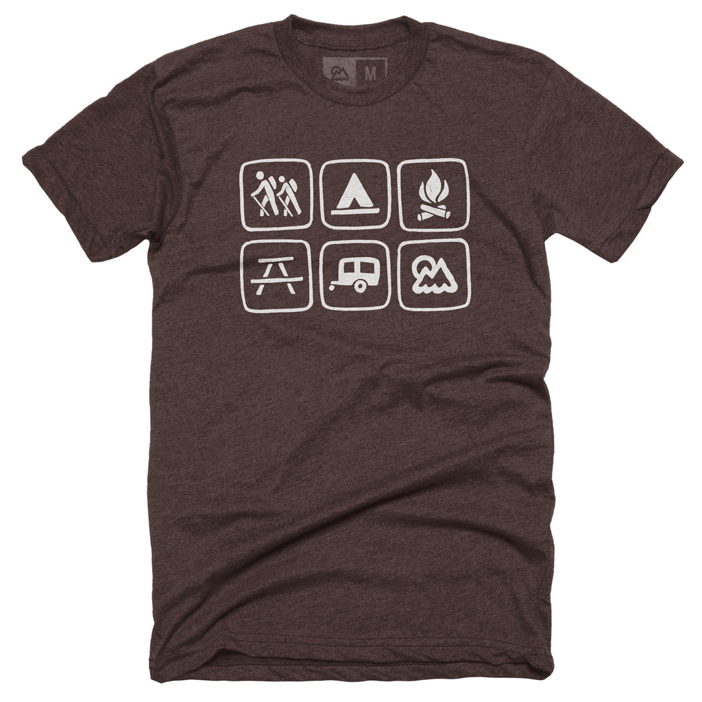 Outdoor Symbols T-shirt