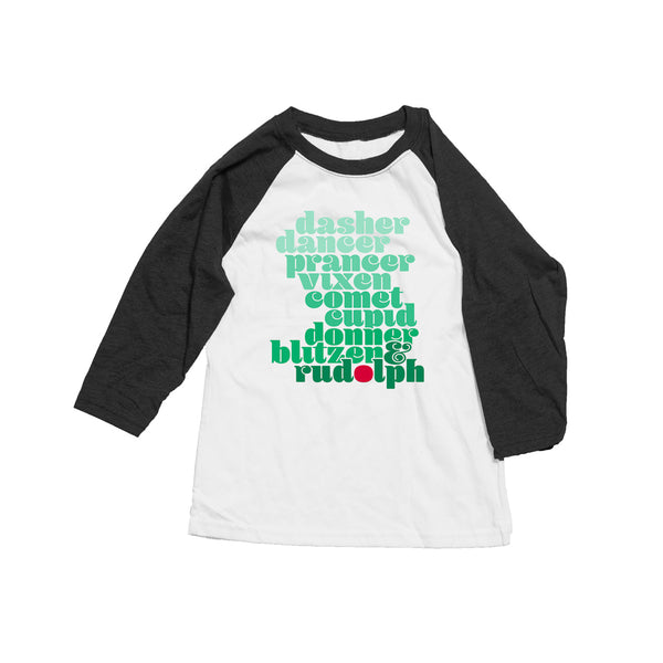 Reindeer Roll Call Raglan T-shirt - Kids
