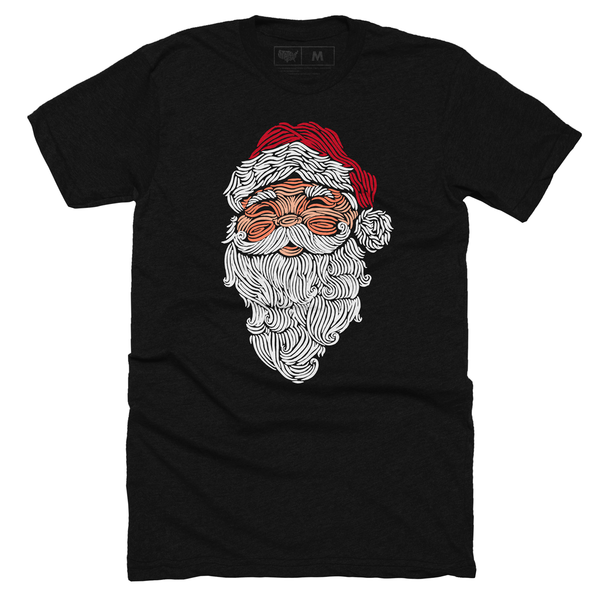 Santa Claus Woodcut T-shirt