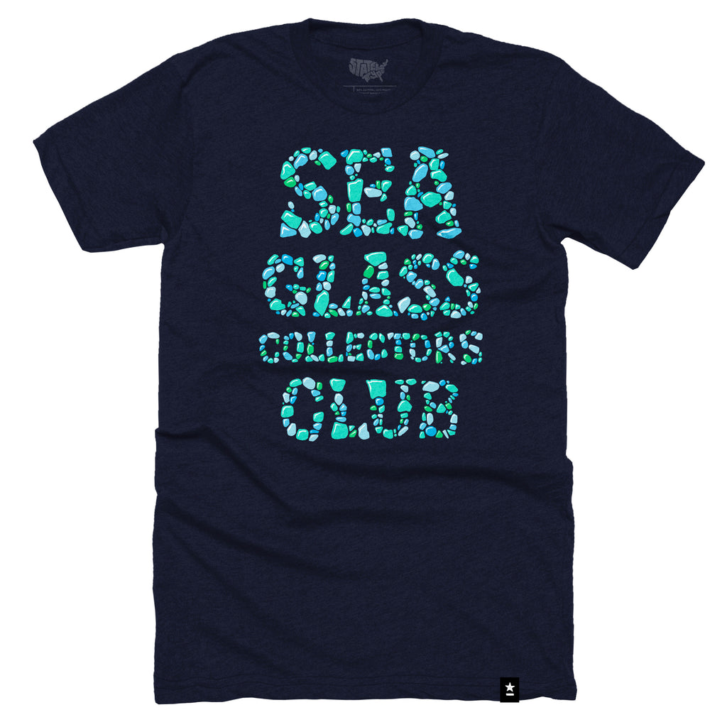 Sea Glass Collectors Club T-shirt - Stately Type