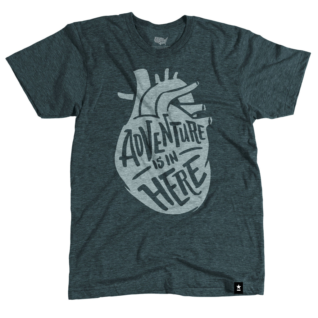 Adventure is in Here T-shirt - Stately Type