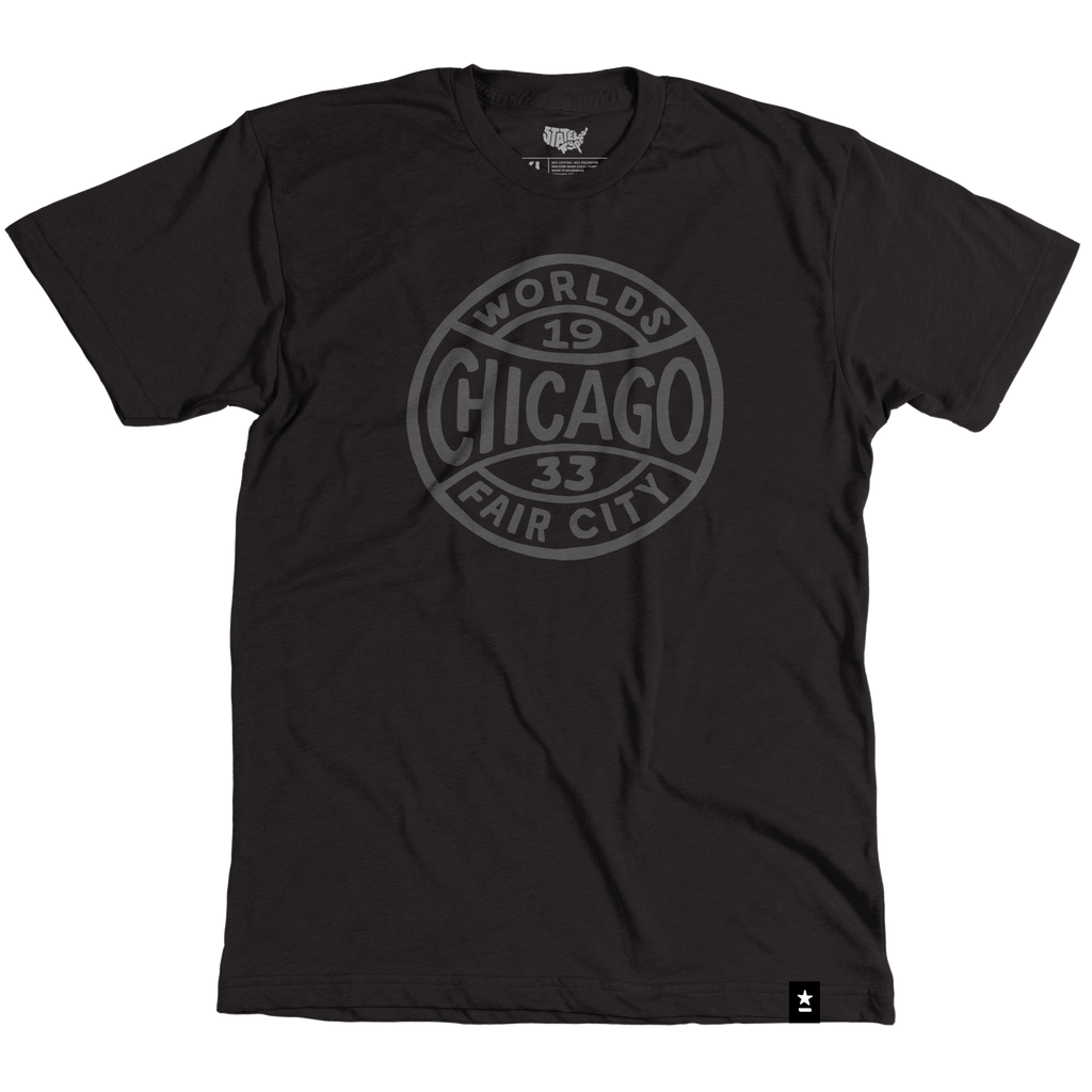 Chicago World's Fair City T-shirt - Stately Type