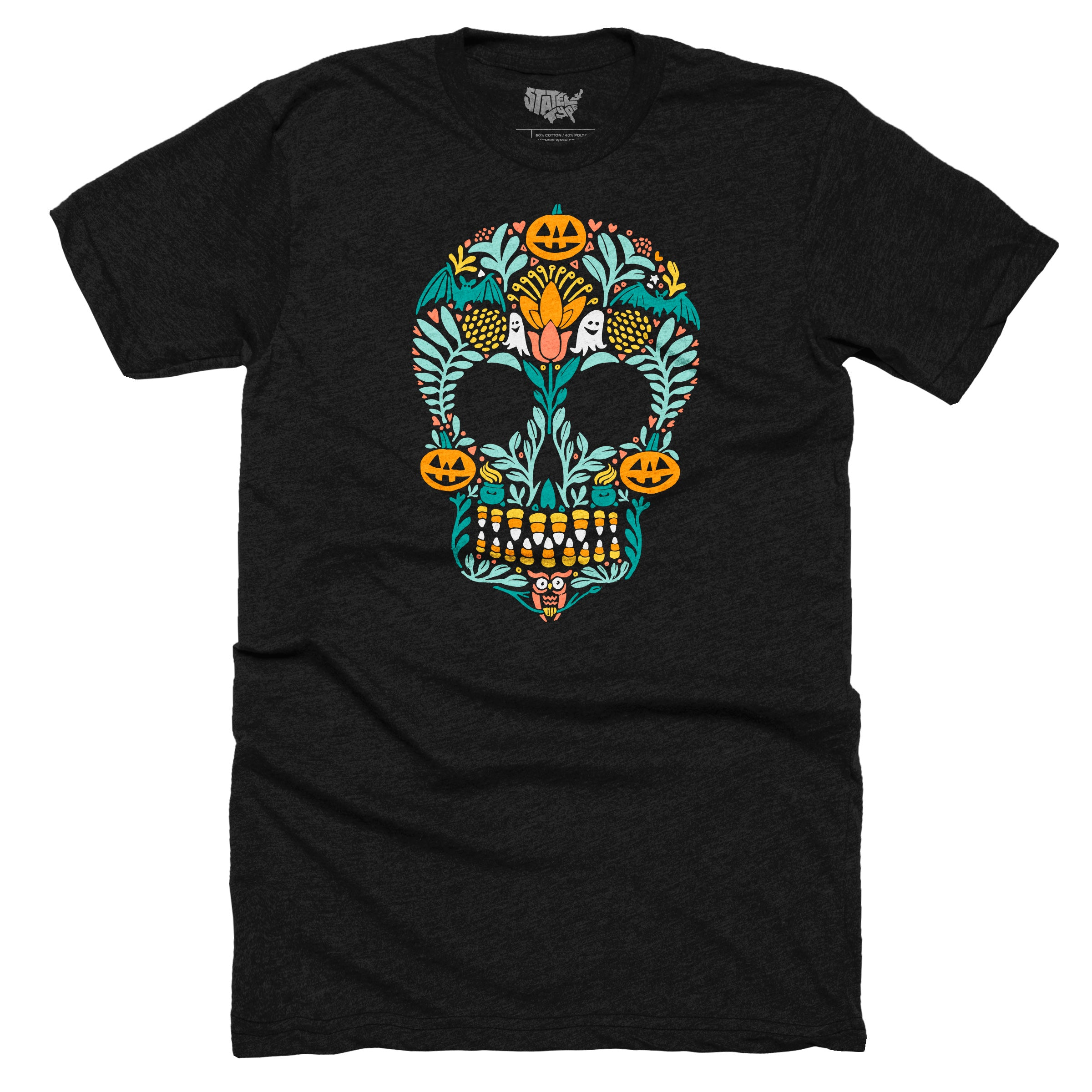 3db3cf758 Sugar Skull Halloween T-shirt – Stately Type