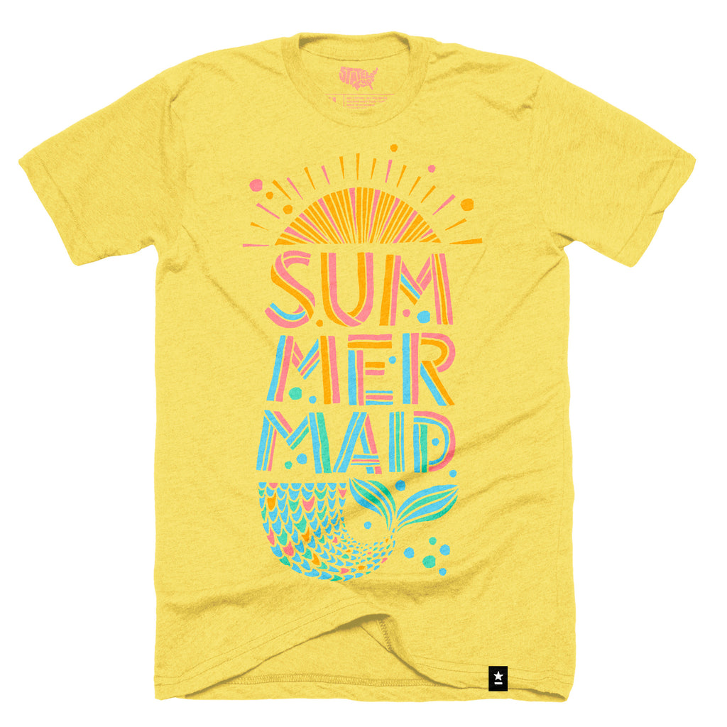 Summermaid (Summer + Mermaid) T-shirt - Stately Type