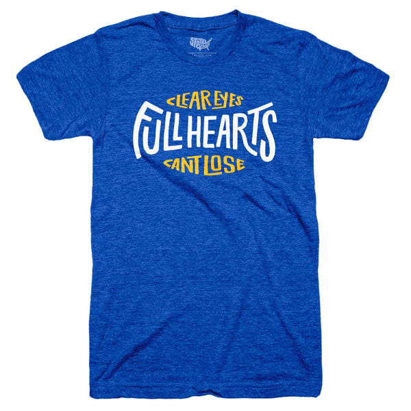 Clear Eyes, Full Hearts, Can't Lose T-shirt - Stately Type