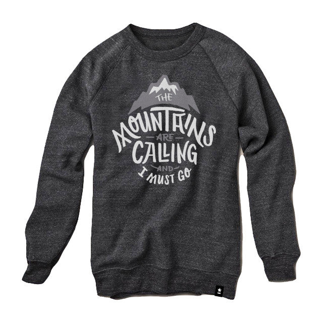 The Mountains are Calling and I Must Go Sweatshirt - The Outdoor Majestic