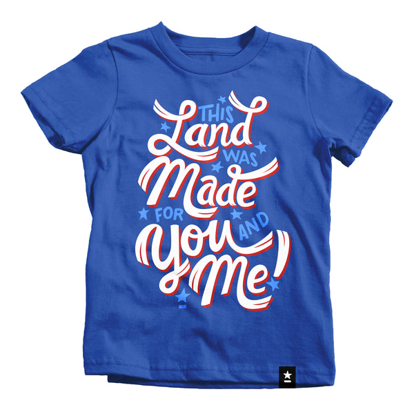 This Land Was Made for You and Me T-shirt - Kids