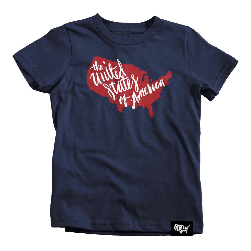 USA Script T-shirt - Kids - Stately Type
