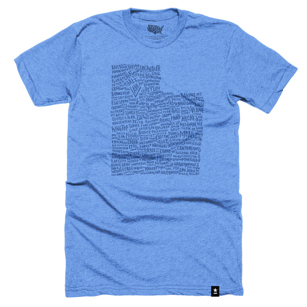Utah Places to Visit T-shirt - Stately Type