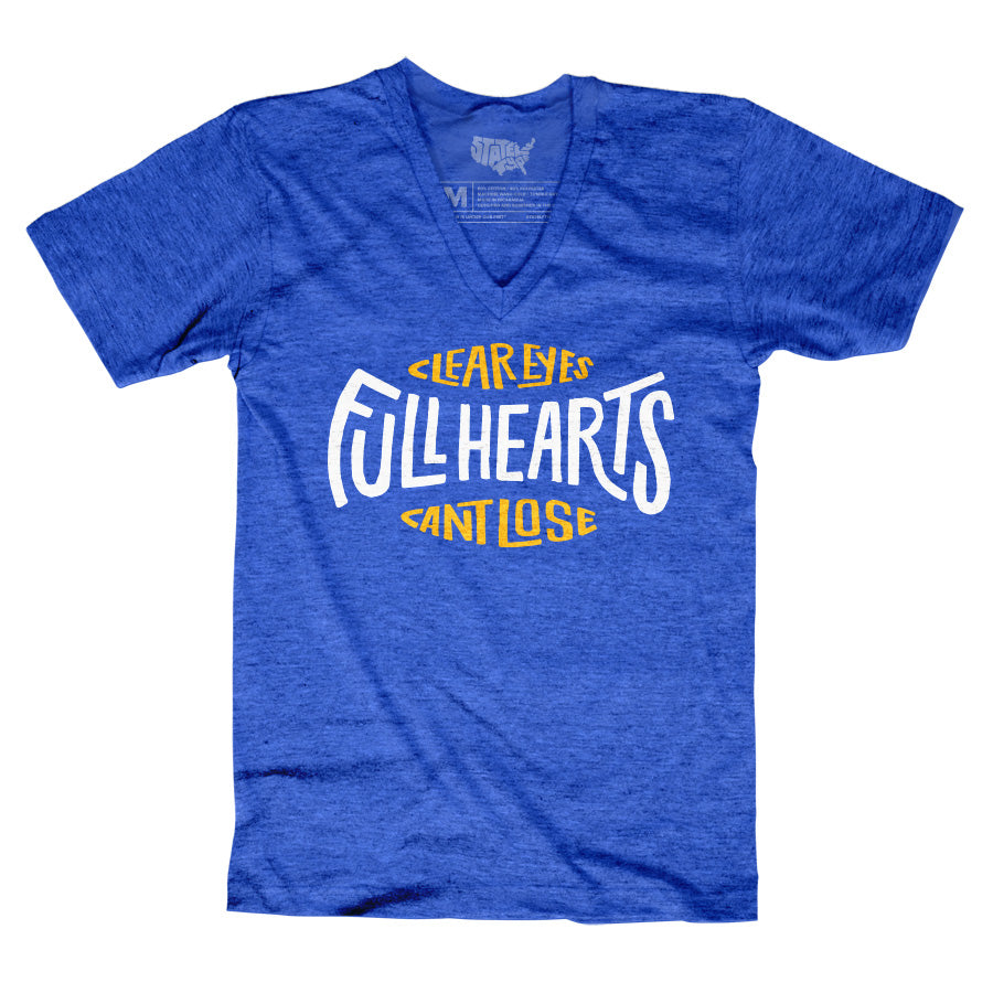 Clear Eyes, Full Hearts, Can't Lose V-neck T-shirt - Stately Type