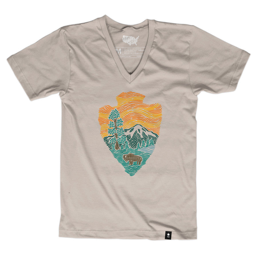 Woodcut National Parks Arrowhead T-shirt
