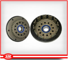 For '98-'06 BT(except '06 Dyna), Billet Clutch Basket, 36T Sprocket, 102T Ring gear