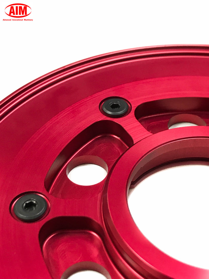 Billet Pressure Plate, Red, for Harley Davidson '98 and later BT