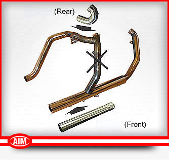 True Dual Header Pipe (For Reverse Gear Mamba Installs) (FS001-001)