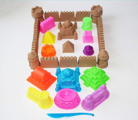 MUKOOL Sand Molding Tools kit for Kids 71PCS Sand Castle Molds Sand Toys Activity Set Compatible with Any Molding Sand