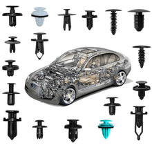 Load image into Gallery viewer, Car Retainer Clips Fasteners Cars Body Kits 18 Most Popular Sizes 299 PCS Plastic Car Door Panel Trim Clips Kit 1 Pcs Fastener Remover for BMW Benz Toyota Honda Nissan Subaru Audi Mazda