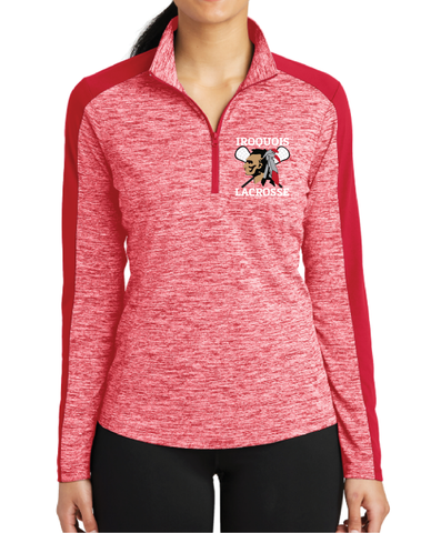 Sport Tek Ladies Heather 1/4 Zip