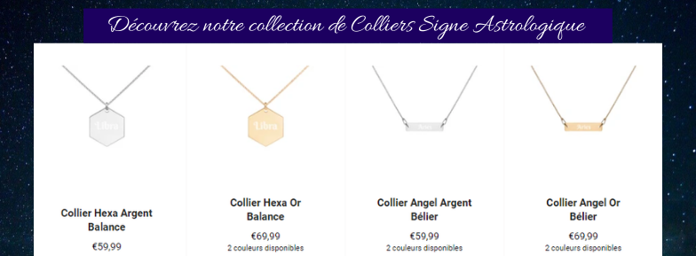 Collier Signe Astrologique