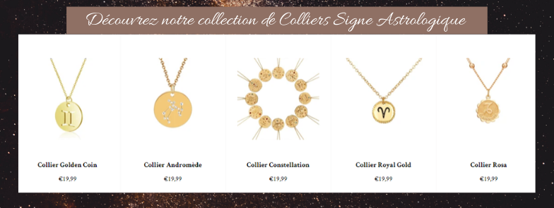 colliers signe astrologique