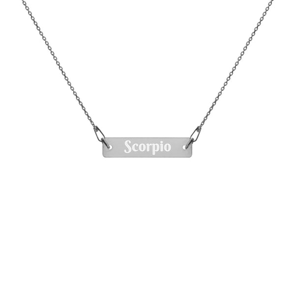 Collier Signe Astrologique<br> Angel Argent Scorpion