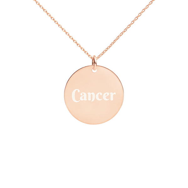 Collier Signe Astrologique Cancer Circle or rose