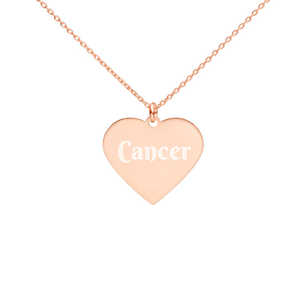 Collier Signe Astrologique Cancer Heart or rose