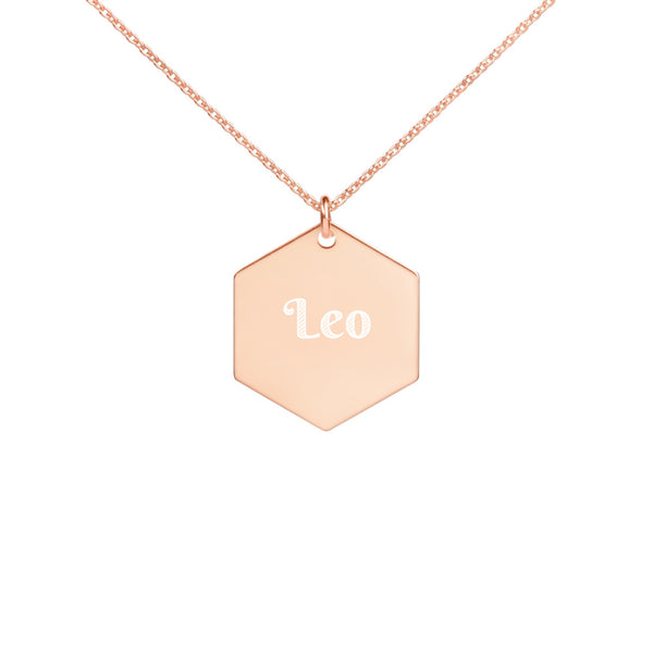 Collier Signe Astrologique Lion Hexa or rose