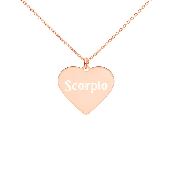 Collier Signe zodiaque  scorpion Heart or rose