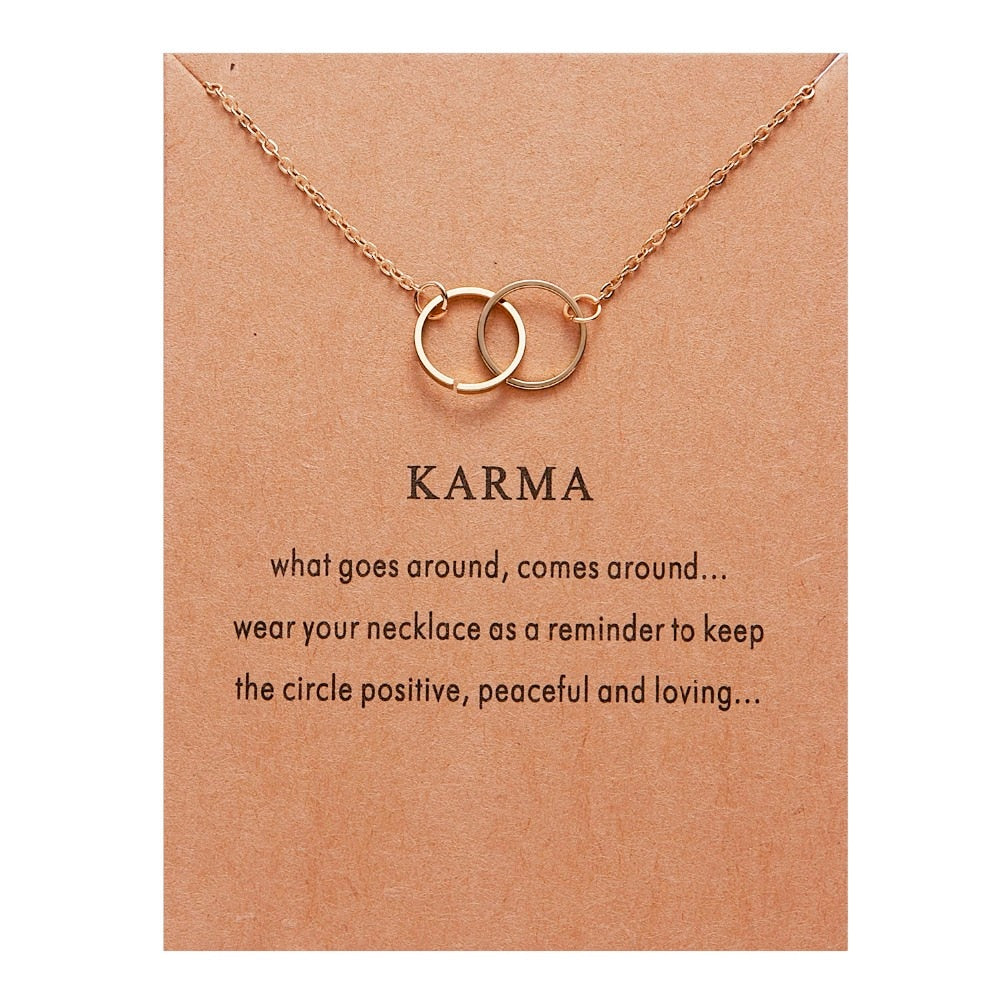 collier signe astrologique karma or