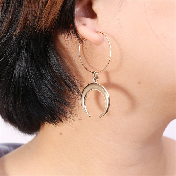 Boucle D'Oreille Lune Or
