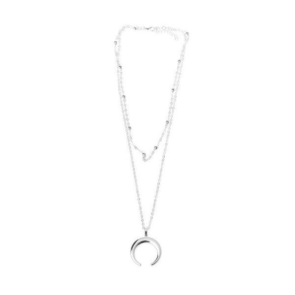 Collier Corne Lune Plaqué Or