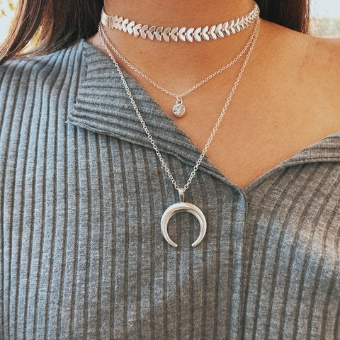 Collier 3 Rangs Lune