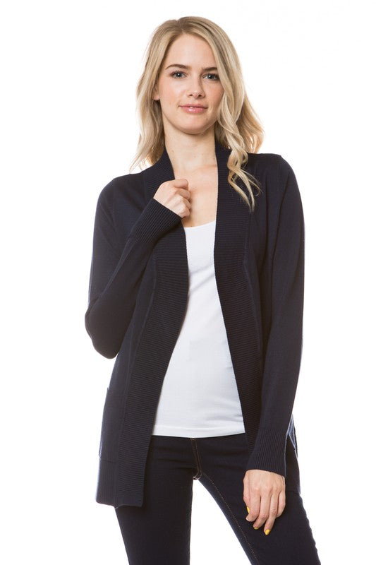 Open Front Cardigan (Black)