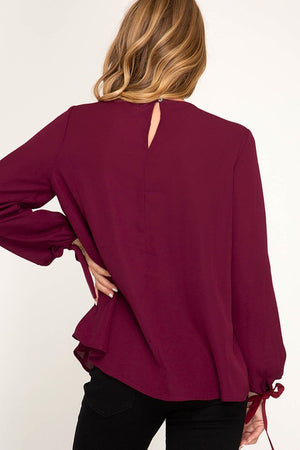 Tied Layered Top (Wine)