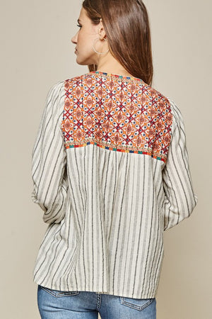 Boho Inspired Embroidered Top