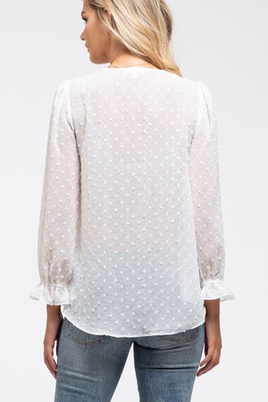 Swiss Dot Top (White)