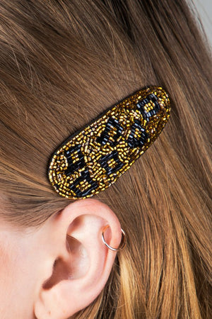 Beaded Hair Pin (Gold)