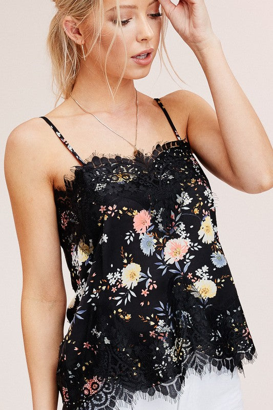 Delicate Lace Camisole (Floral)