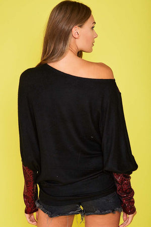 Off the Shoulder Sequin Top