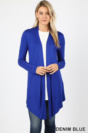 Drape Cardigan (Denim Blue)