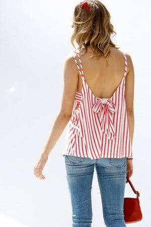 Sleeveless Tie Back Tank